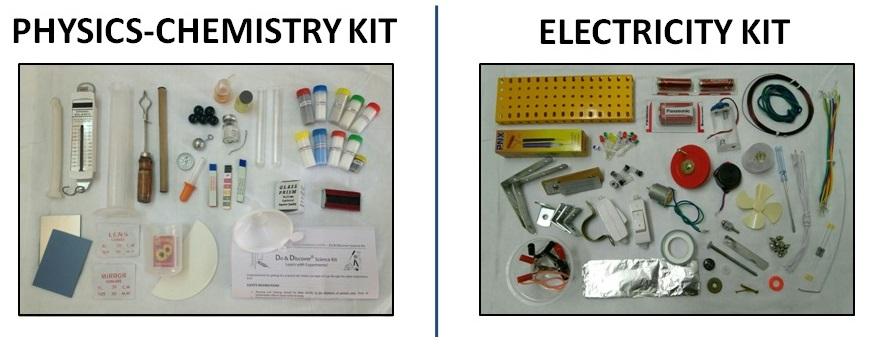 Homi Bhabha Practical Exam Experiment Kits - Physics, Chemistry, Electricity