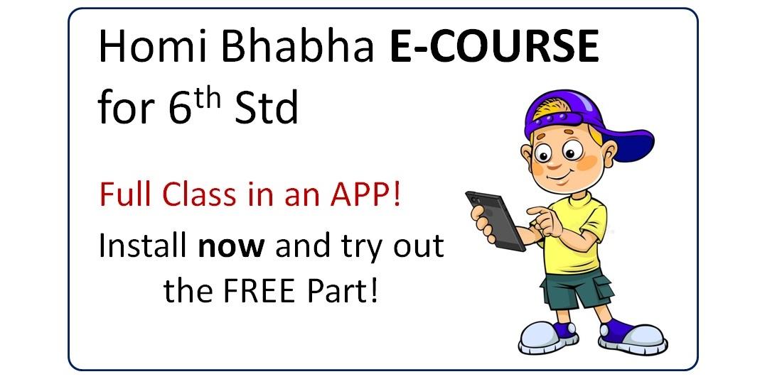 Homi bhabha Exam Online e-course in form of an app